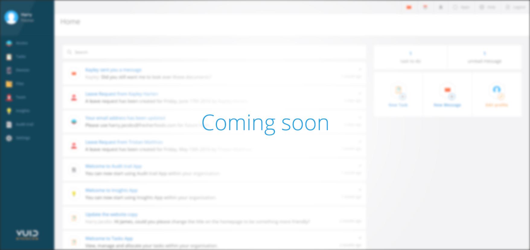 CRM screenshot